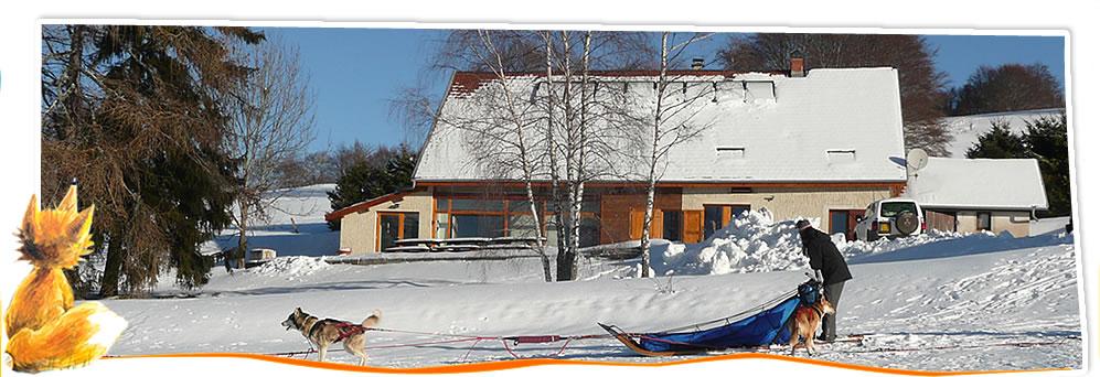 gite rural ski et chiens de traineaux